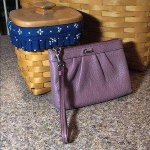 Coach Leather Wristlet With Detachable Strap